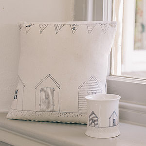 Beach Hut Cushion - cushions