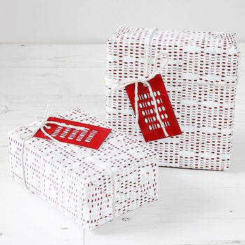 Geek Binary Valentines Gift Wrap Set