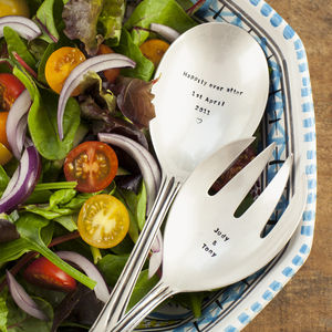 Personalised Silver Plated Serving Spoons - al fresco dining