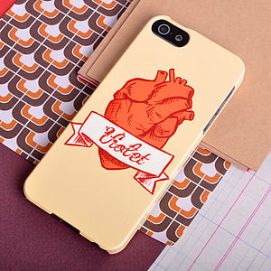 Personalised 'Anatomical Heart' Phone Case - womens