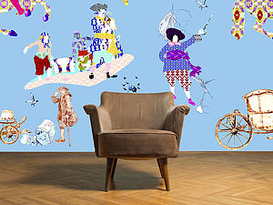 Rascals Blue, Children's Bedroom Wallpaper