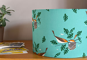 Charley Harper Vireo Lampshade - living room