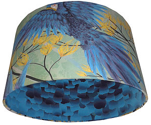 Stunning Green/Blue Birds Designer Lampshade - lighting
