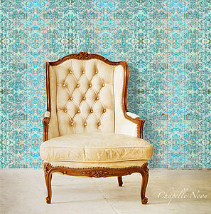 'Chapelle Noon' Mixed With 'Morpho' Wallpaper - home decorating