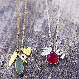 Gemstone Pendant Charm Necklace - necklaces & pendants