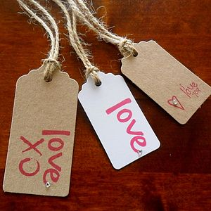 Pack Of Two 'Love' Tags : Two Sizes