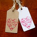 Pack Of Two Heart Gift Tags