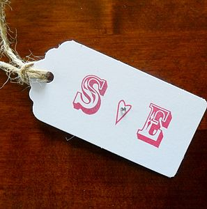 Pack Of Two Personalised Initial Tags
