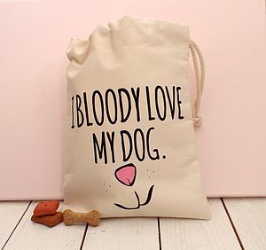 'Love My Dog' Dog Treat Bag - food, feeding & treats