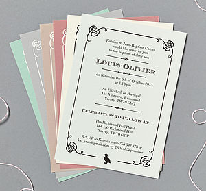 'Duckling' Or Cross Christening/Baptism Invitations - christening invitations