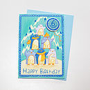 '6 Today' Penguin Badge Card