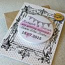 Personalised Save The Date Magnet Card