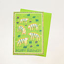 '5 Today' Zebra Badge Card