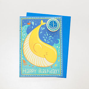 '1 Today' Whale Badge Card