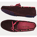 Aubergine And Pink Loafers