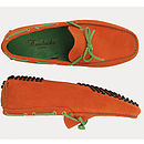 Orange And Lime Green Driving Shoes