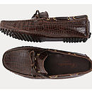 Crocodile Lace Driving Shoes