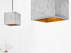 Concrete Pendant Light Handcrafted Lamp B1 - ceiling lights