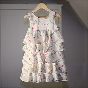 Girl's Dress Woodland Organic Ruffle Dress