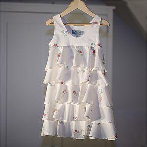 Girl's Dress Wildflower Organic Ruffle Dress