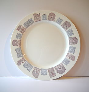 Dinner Plate With Lace Design - kitchen