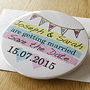 Personalised Save The Date Magnet