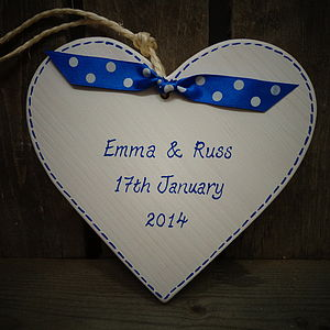 Personalised Wedding Heart - personalised wedding gifts