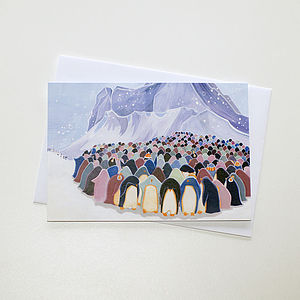 A Set Of Eight Penguin Christmas Cards - christmas card packs