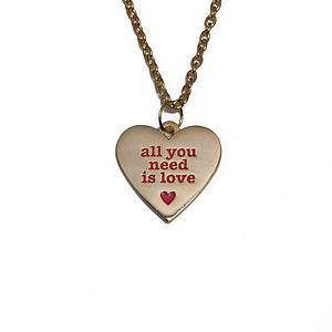 All You Need Is Love Romantic Token Necklace