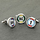Personalised Racing Numbers Cufflinks