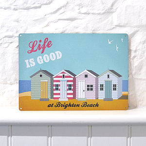 'Personalised Vintage Style Beach Sign' - room decorations
