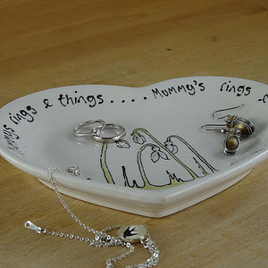 Personalised Snowdrop Heart Dish - storage