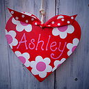 Personalised Daisy Hanging Heart
