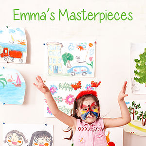 Personalised Child's Artwork Decal - wall stickers