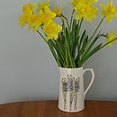 Hand Painted Personalised Hyacinth Jug