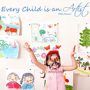 'Every Child Is An Artist' Wall Sticker - wall stickers