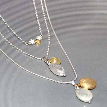 Trio Of Gold And Silver Necklaces