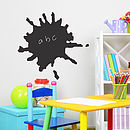 Splat Chalkboard Wall Sticker
