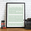 Bespoke 'Miscellany of Mother Missives' Advice Print