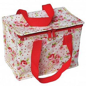 Pink Rose Insulated Lunchbag - picnics & barbecues