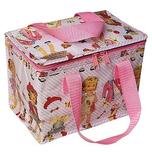 Dress Up Dolly Pink Thermal Lunchbag - lunch boxes & bags
