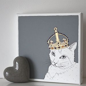 Pet Royalty Portraits On Canvas - art & pictures