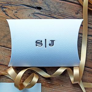 Monogram Letterpress Wedding Favour