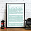 'Miscellany of Motherly Missives' New Parent Advice Print
