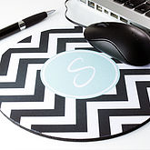 Personalised Chevron Mouse Mat Round - shop by room