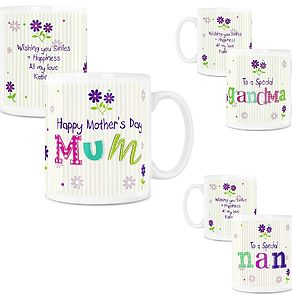 Personalised Mother's Day Patchwork Mug