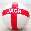 Personalised Hand Stitched England Football