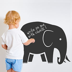 Elephant Chalkboard Wall Sticker - wall stickers