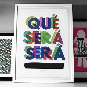 'Que Sera Sera' Fine Art Giclée Print