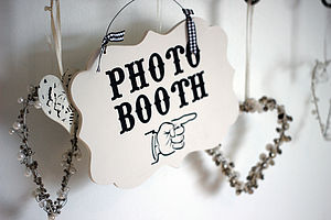 Photo Booth Wedding/Party Sign - outdoor wedding signs